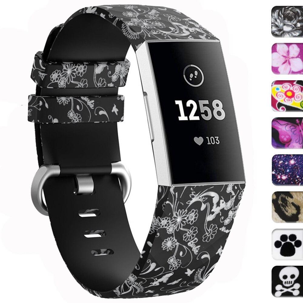 Sport soft-Armband für Fitbit Gebühr 4 band Ersatz Silikon armband armband Charge4 SmartWatch Fitbit Gebühr 3 SE band