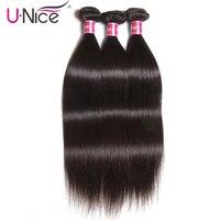 Волосы UNICE, бразильские прямые волосы, пряди, натуральный цвет, 100% натуральные кудрявые пучки волос, 8-30 дюймов, волосы remy для наращивания, 1