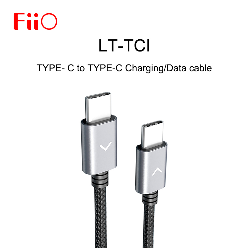 FiiO LT-TC1 Type-C To Type-C Charging Data Cable For M15/M11/M5/M6/BTR5/BTR3 Music MP3 Player Amplifier