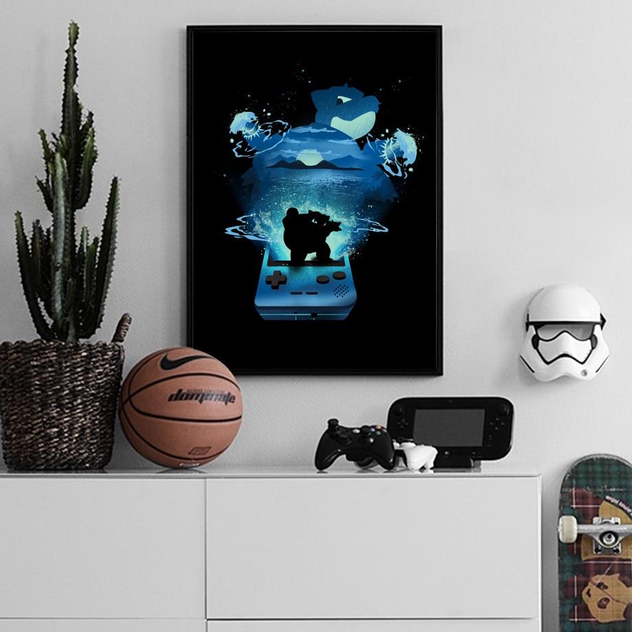主图_Pocket_Monster_Pikachu_Charizard_Blastoise_Anime_Posters_And_Prints_Wall_Art_Canvas_Painting_Wall (1)