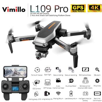 Vimillo L109 PRO GPS Drone With 2-Axis Gimbal Anti-Shake Selfstabilizing Wifi FPV 4K Camera Brushless Quadcopter VS SG906 PRO