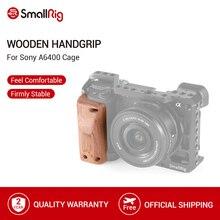 SmallRig a6400 klatka operatorska drewniany uchwyt rękojeści do Sony A6400 klatka Quick Release drewniany uchwyt 2318