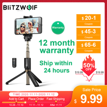 BlitzWolf BS3 Wireless bluetooth Selfie Stick Mini Tripod Extendable Foldable Monopod For iPhone For Samsung Xiaomi Huawei Phone