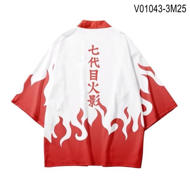 NARUTO 3D Printing Japanese Kimono Haori Yukata Cosplay Women Men Fashion Summer Casual Short Sleeve Streetwear Jackets Clothes