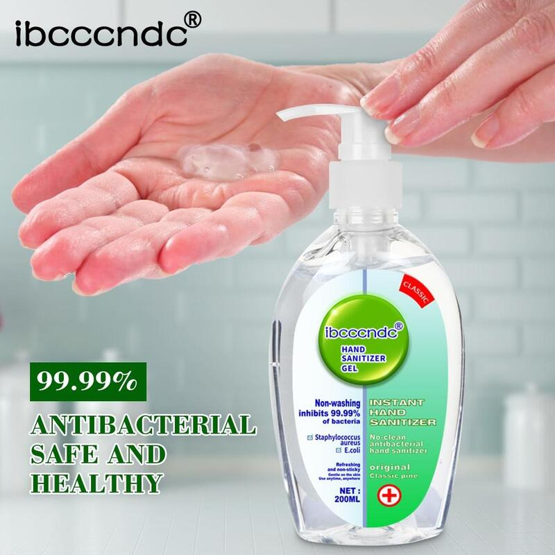 200ml Wash-free Antibacterial Hand Sanitizer Disposable Disinfectant Gel 75% Bacteriostatic Gel Hand Sanitizer Wipe Out Bacteria