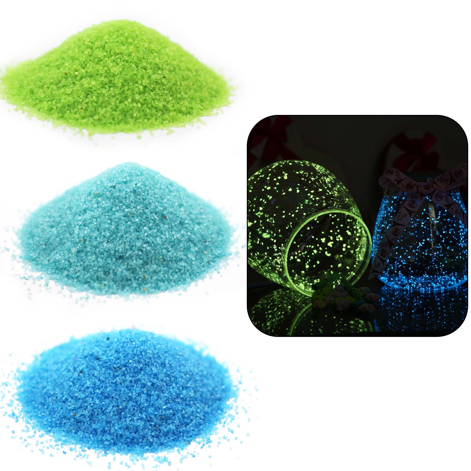 20g Luminous Noctilucent Sand Fish Tank Fluorescent Glow In The Dark Pigment Powder For Party Wishing Bottle DIY Decoration