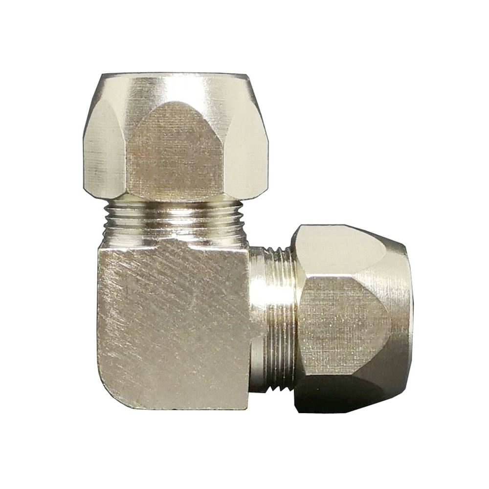 Fit 4/6/8/10/12/14/16mm OD Tube Elbow 90 Degree Compression Union Fitting Nickel Plated Brass Water Gas Fuel