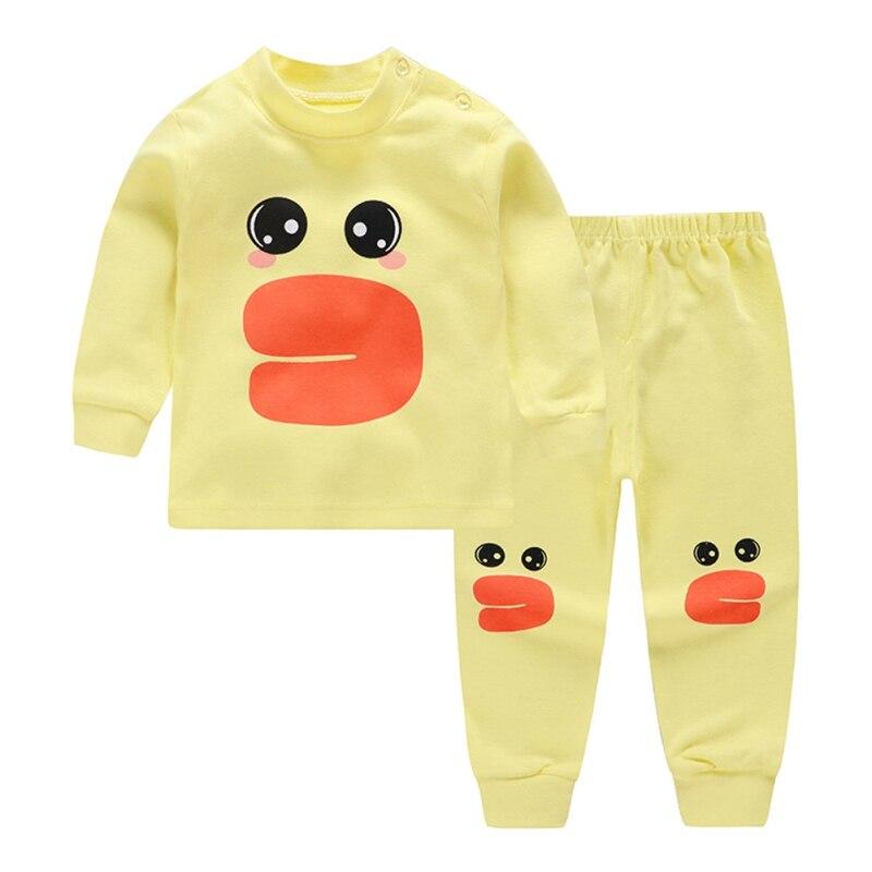 kids Baby Cartoon   pajamas     Set   children sleepwear boys girls Warm   pajamas   cotton nightwear clothes kids Newborn clothing