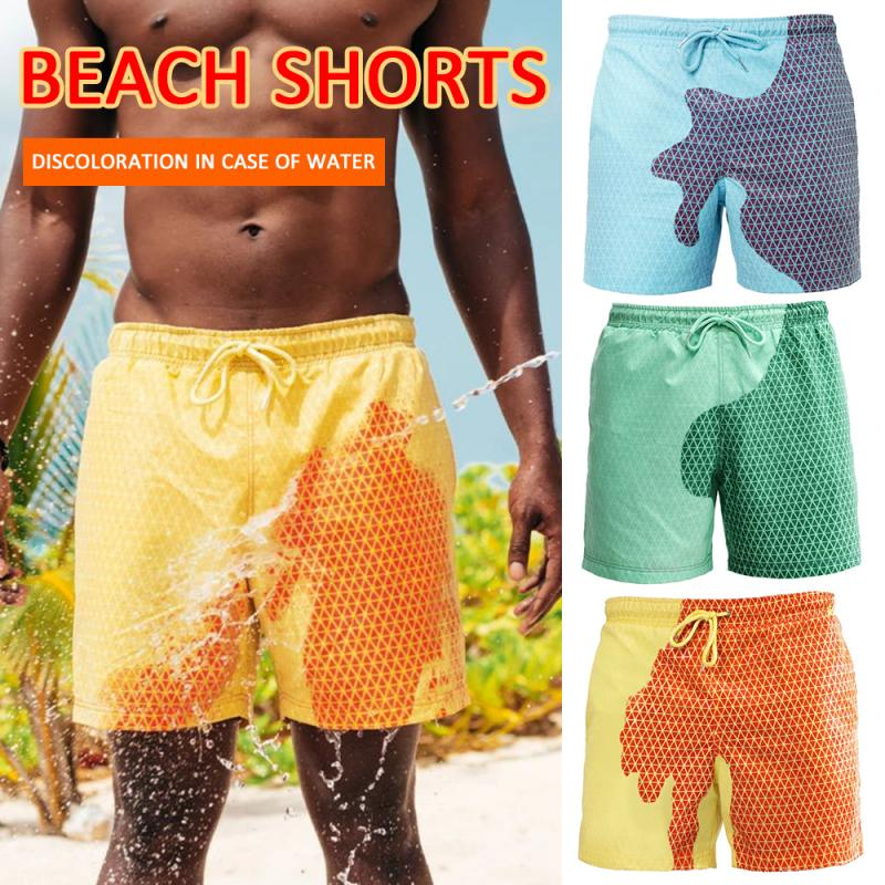 2020 Men Magical Color-changing Shorts Color Change Beach Shorts Shorts Swimming Pants Quick Dry Beach Shorts Garden Kitchen