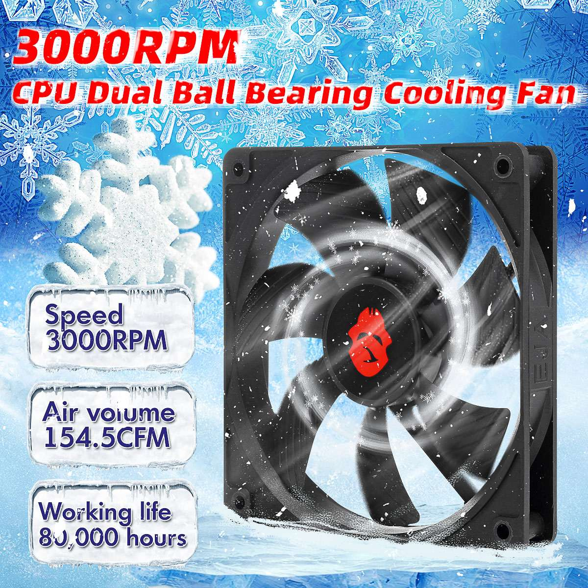 12x12x2.5cm New 12025 12V Computer PC CPU Silent Cooling Case Fan