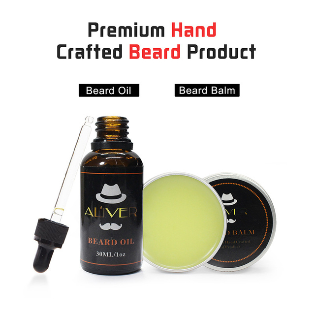 Newly Men Beard Care Grooming Trimming Kit Unscented Beard Conditioner Oil Mustache for Shaping Growth CLA88 5