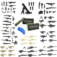 Single Sale Military Weapons Kits Gun Soldier Army WW2 Figure Police SWAT Model Building Block Brick Legoed Children Toy(China)