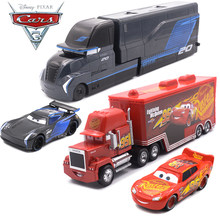 Disney Pixar Cars 3 Metal Car Toy Storm Jackson Lighting McQueen Mack Truck Golden Curz Toy Vehicles Kid Christmas Birthday Gift(China)