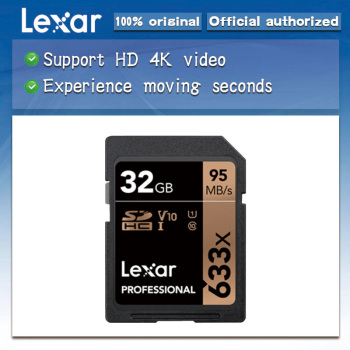 free shipping Lexar 32GB SD Card Class10 633x U3 SDHC SDXC 128GB Memory Card UHS-I C10 64GB max95MB/s 16GB Carte SD for camera