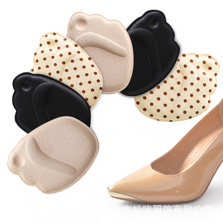 High Heel Shoes Semi-Code Insole Silica Gel Massage Anti-slip Forefoot Pad Abrasion-resistant Half Code Pad Sponge Front Semi-In
