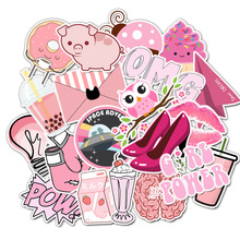 50 шт. мультфильм Розовый Высокий каблук OMG VSCO девушка стикер s водонепроницаемый стикер для DIY чемодан ноутбук велосипедный шлем автомобильные наклейки