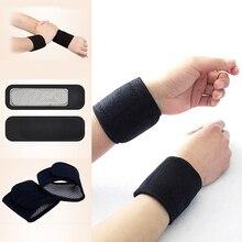 2Pcs Self-Heating Magnet Wrist Support Brace Guard Protector Men Winter Keep Warm Band Spor