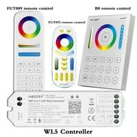 WL5 Wifi 5 in 1 Led Controller Für RGBW RGB + CCT led streifen licht; 2,4G Hz Fernbedienung: FUT092,8 Zone FUT089,B8 Wand-montiert Touch Panel