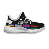 Customized Black Lives Matter Pattern Fashion Sports Shoes Men Sneakers Flats Driving Male Air Mesh Running