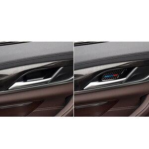 Image 4 - Für BMW 5 Series G30 G38 528i 530i 2018 Carbon Faser Aufkleber Auto Tür Innen Griff Schüssel Abdeckung Auto Aufkleber auto Interior Styling