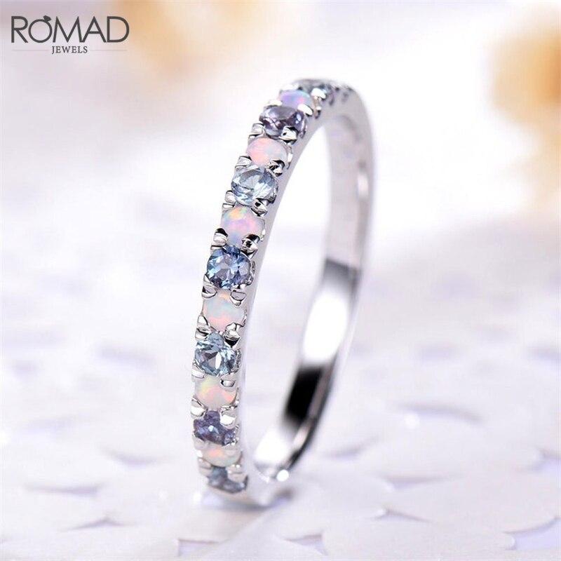 ROMAD Dainty Opal Rings...
