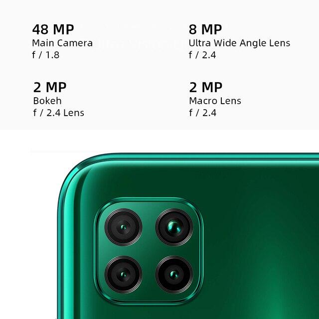 """Huawei p40 lite smartphone versão global 6gb 128gb 48mp ai quard câmera 6.4 """"tela fhd kirin 810 octa núcleo 40w carregamento rápido 2"""
