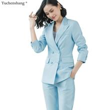 2019 New women office lady pant suits of high quality OL blazer suit