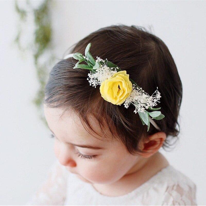 Floral Cheveux Accessoires Coiffure Bébé Bandeau Fleur Perle Photography Props