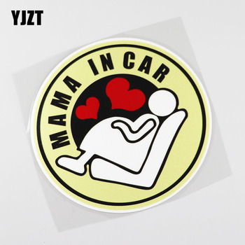 YJZT 13.8CMX13.8CM Mama IN Car Sticker Pregnant woman Pvc Decal Love 13A-0072 image