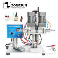 ZONESUN DesktopTrigge cap capping maschine Schraube Flasche Semi Automatische Kunststoff Glas Waschen Dropper Auslauf beutel Capping Maschine
