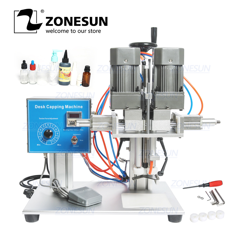 ZONESUN E-juice E-liquid Desktop Trigge Cap Capper Twist Alcohol Hydrogen Peroxide Glass Dropper Spout  Capping Machine