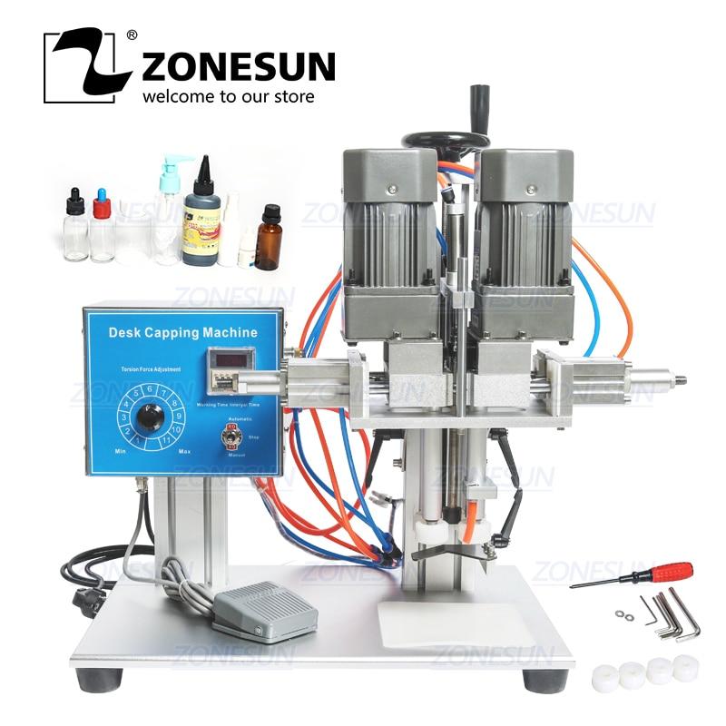 ZONESUN E-juice E-liquid Desktop Trigge Cap Capper Twist Glass Dropper Spout  Capping Machine