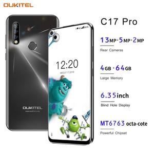 Image 1 - OUKITEL C17 פרו 6.35 אנדרואיד 9.0 4GB 64GB Smartphone 19:9 MT6763 מעבד טביעת אצבע פנים מזהה אוקטה Core 3900mAh 4G נייד טלפון