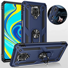 For Xiaomi Redmi Note 9S Case Shockproof Armor Stand Holder Car Ring Phone Case for Redmi Note 9 Pro Max Back Cover(China)
