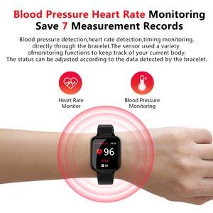 Image 2 - Inteligentna bransoletka B57, wodoodporna, sportowa smartwatch, pulsometr, monitor akcji serca, funkcje dla kobiet, mężczyzn, dzieci, dla iPhonea
