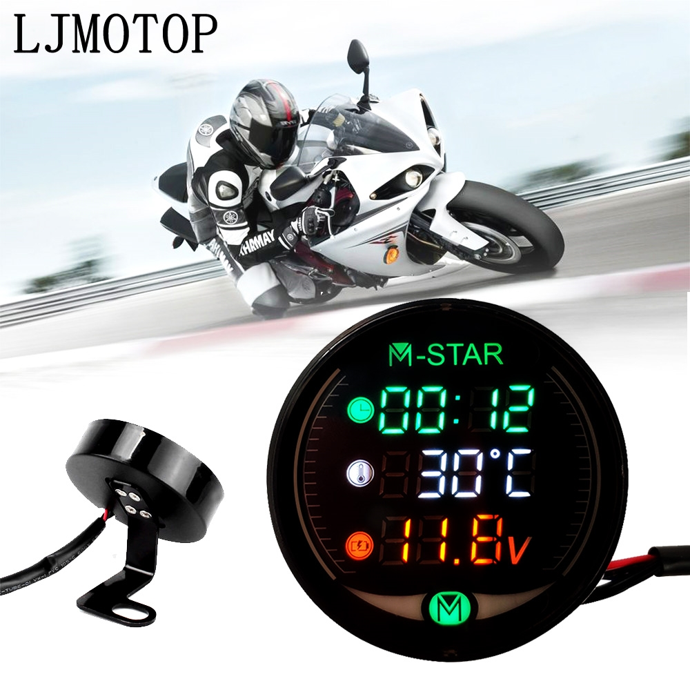 Night Vision Motorcycle Meter Time Temperature Voltage Table For BMW G650GS G650GS G650 Xcountry G450X HP2 Enduro(China)