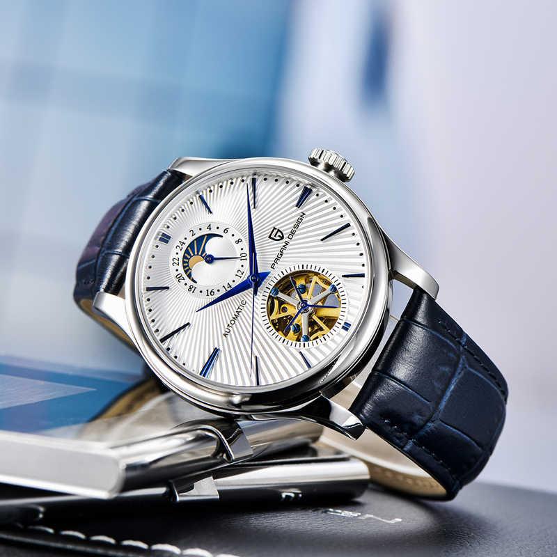 PAGANI DESIGN męskie zegarki marki luksusowy zegarek automatyczny Tourbillon mężczyźni casual mechaniczny zegarek na rękę mężczyźni 100M wodoodporny zegar