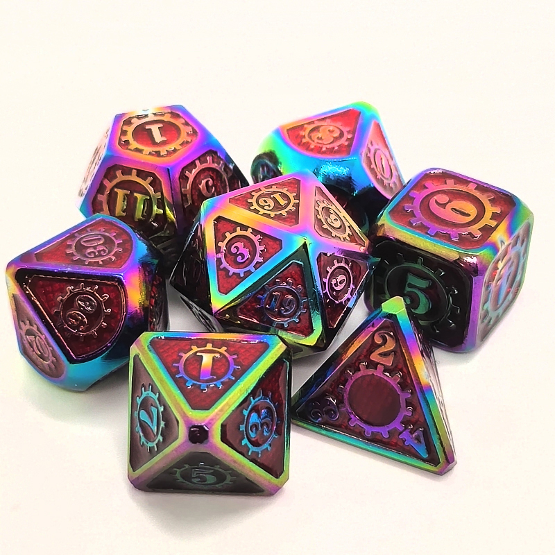 <font><b>Metal</b></font> Polyhedral Dice For DND Gaming Dice For RPG Games D&D Dice Set Digital <font><b>Metal</b></font> Dice Set D4 D6 D8 D10 D12 <font><b>D20</b></font> DND Dice Set image