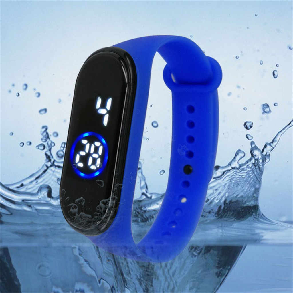 50M Waterproof Sports Men Women Watch Fashion Digital LED Fitness WristWatch Unisex Silicone Band Wrist Gifts relogio masculino