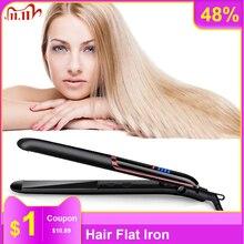 Hair Flat Iron Hair Straightener Ceramic Negative Ion Hair Straightener & Curling Curling