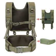 Removable Tactical Vest Military Molle Suspender Strap Battle Vest Airsoft Paintball Combat Waistcoat Heavy Duty Hunting Clothes