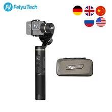Feiyutech estabilizador de câmera, à prova de respingos, gimbal, wifi + bluetooth, câmera de ação, para gopro hero 8 7 6 5 sony rx0 yi 4k