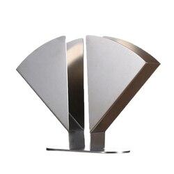 Serwetnik ze stali nierdzewnej serwetnik papierowy pionowy dekoracyjny stojak na tkaninę pudełko na stół kuchenny blat kuchenny
