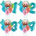 Cocomelon воздушный шар с номером 32 дюйма, JJ Cocomelon воздушные шары, топперы для торта, детский душ, товары для дня рождения, детский душ