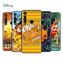 Coque de téléphone en Silicone TPU souple, dessin animé Disney le roi Lion pour Motorola G9 G8 G Power One Fusion Edge E6 Plus Play Lite