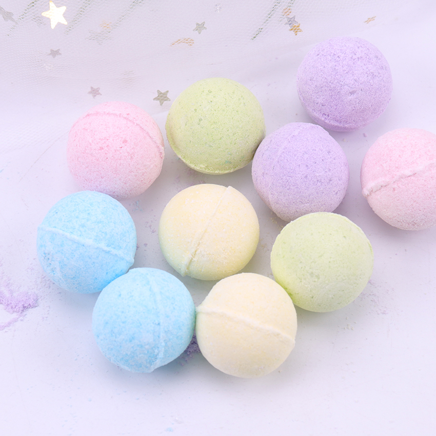 1PC Organic Bath Salt Body Essential Oil Bath Ball Body Skin Whitening Ease Relax Stress Relief Natural Bubble Bath Bombs Ball