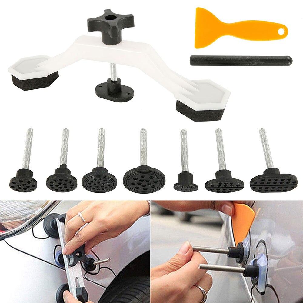 10PCS/set Car Body Paintless Dent Repair Tools Set Bridge Puller Dent Removal Glue Tabs Hand Repair Tools Kit Universal