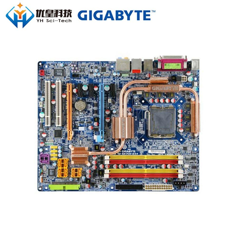 Original Used Desktop Motherboard Gigabyte P35-DS4 P35 LGA 775 Core 2 Extreme/Core 2 Quad/Core 2 Duo DDR2 ATX