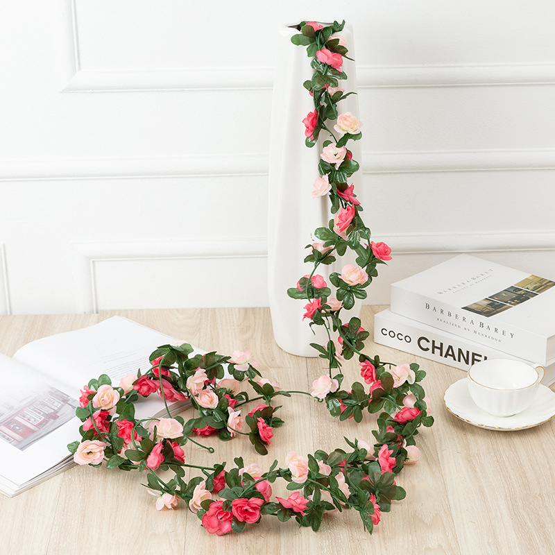 Artificial Flowers Rattan Rose Garland Wedding Decoration Baby Shower Birthday Party Home Decor Bride To Be Valentine's Day Gift