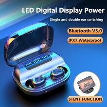 3500mAh LED Bluetooth kablosuz kulaklık telefon kulaklığı TWS dokunmatik kontrol spor kulaklık gürültü iptal kulaklık kulaklık A07